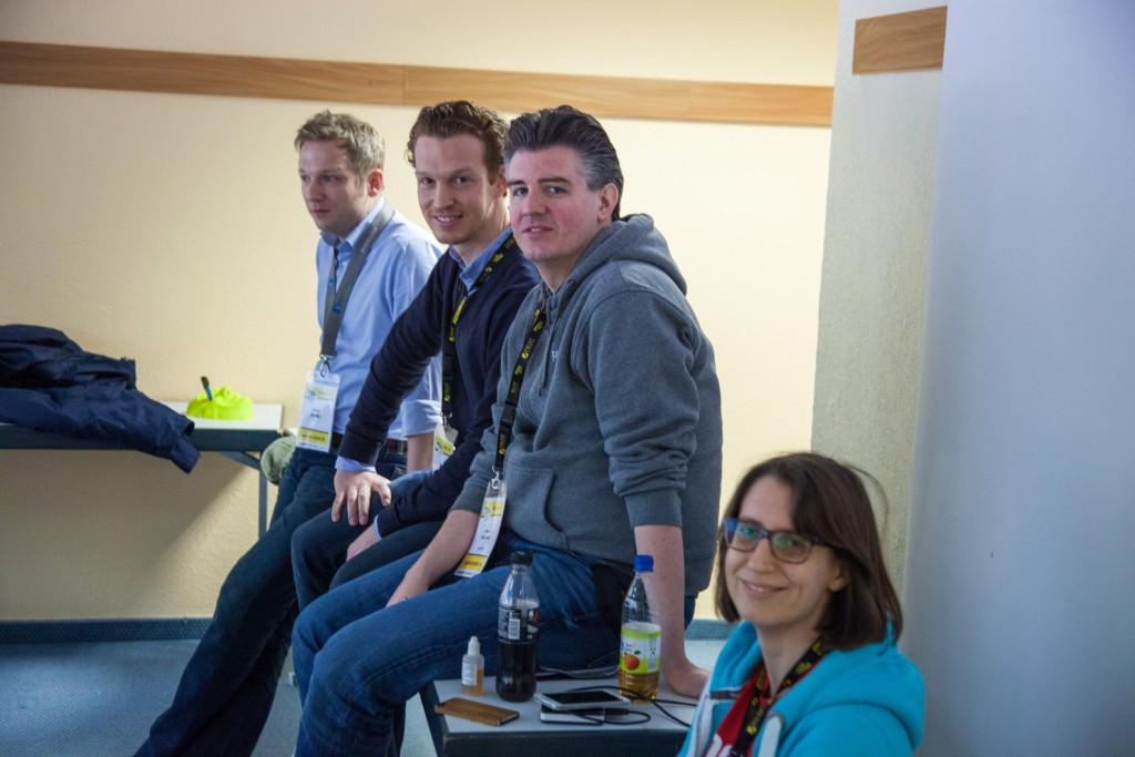 Sören Bendig, Patrick Pietruck, Jens Fauldraht und Anke Probst.