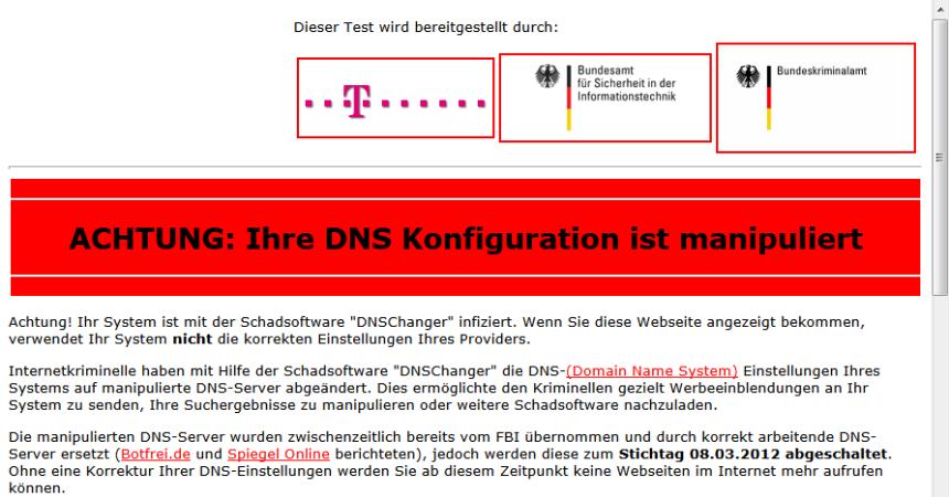 DNS-OK.de jagt DNS-Changer